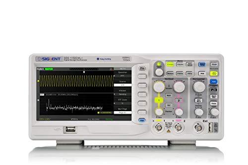 Siglent Technologies SDS1102CML+ Osciloscopio de almacenamiento digital, 100 MHz