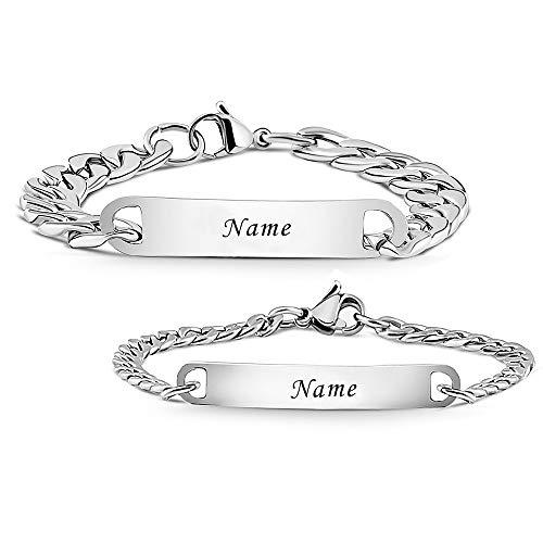 Armband mit Gravur | Personalisierbare Partnerarmbänder mit Gravur | Hochwertiges Pärchenarmband...