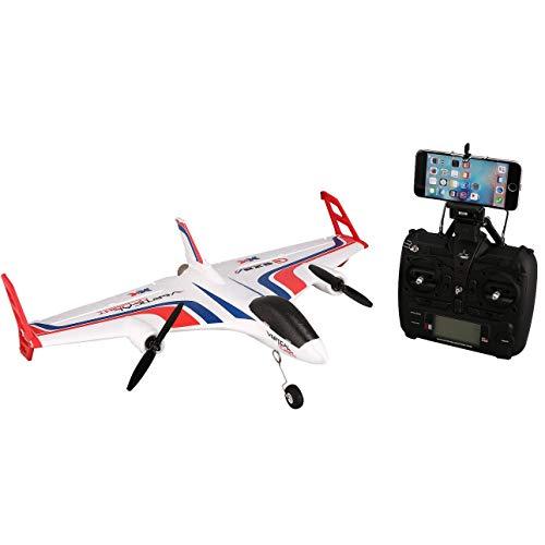 Ballylelly Drone RC con cameraXK X520 6CH 3D / 6G Airplane VTOL Decollo Verticale Land Delta Wing Brushless RC Drone ad Ala Fissa con Interruttore Mode 720 FPV Camera