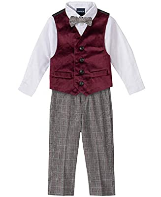A perfectly tailored vest set made with soft and breathable fabrics for an elegant and stylish look on your little gentleman. The classic silhouette is cut in a regular fit and its versatility will ensure lots of wear Nautica vest suit features an el...