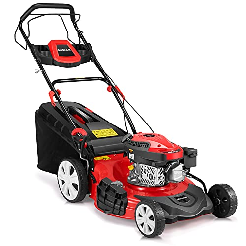 YOLENY Gas Lawn Mower 4-Cycle 173cc OHV 21-Inch Trimming...