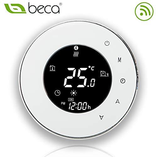 BECA 95 ~ 240VAC 16A Smart WIFI LCD écran tactile sans fil programmable chauffage électrique par le sol Thermostat (BHT-6000GBLW blanc)