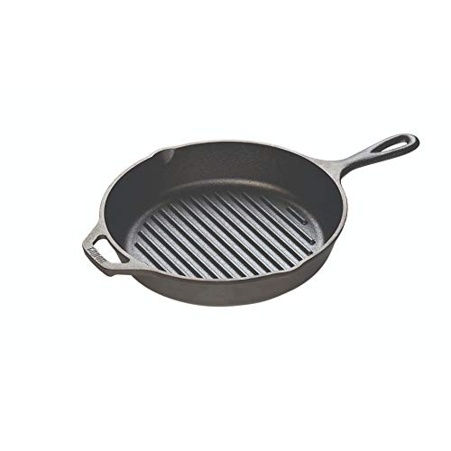 Lodge Cast Iron Grill Pan, 10.25-inch