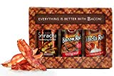 J&Ds Bacon Rub Gift Box - Bacon Cure Seasoning Kit - Contains 3 Flavors - Bacon, Sriracha and Trifecta - Vegan & Kosher BBQ Dry Rub – Unique Gift for Food Lover's - 3 x 3.75 Ounce Jars