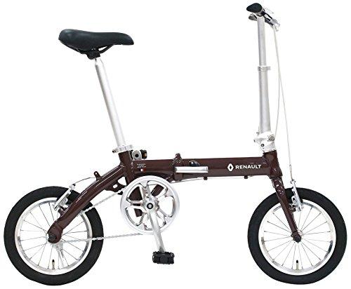 RENAULT(ルノー) LIGHT8 AL-FDB140 ブラウン 軽量アルミフレーム 14インチ コンパクト折りたたみ自転車  本体重量8.3kg 防錆チェーン
