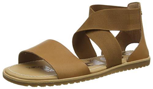 Sorel - Women's Ella Sandal, Leather or Suede Sandal with Stretch Strap