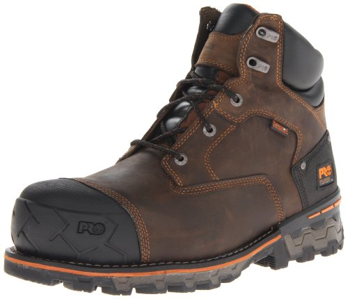 Timberland PRO Men's Boondock 6 Inch Composite Safety Toe Waterproof Industrial Work Boot, Brown Oiled Distressed, 7.5