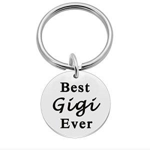 Mothers Day Gifts for Gigi, Birthday Key Ring Gift Ideas for Grandma – Best Gigi Ever