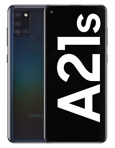 Samsung Galaxy A21s - Smartphone de 6.5' (4 GB RAM, 128 GB de Memoria Interna, WiFi, Procesador Octa Core, Cámara Principal de 48 MP, Android 10.0) Color Negro