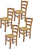 Tommychairs - Set 4 chaises Venice pour Cuisine, Bar et Salle à Manger, Robuste...