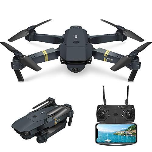 EACHINE Drone con Telecamera, E58 Pieghevole Drone con WiFi FPV HD 720P App Mobile Controllo Grandangolare Selfie Drone modalit di Attesa in AltitudineConsegna in 20-30 Giorni