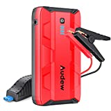 Audew 1000A Peak Portable Car Jump Starter (Up to 6.0L Gas or 4.5L Diesel Engine) Auto Battery Booster, 12V Car Jumper, Power Bank Power Pack with Dual USB Ports and Flashlight