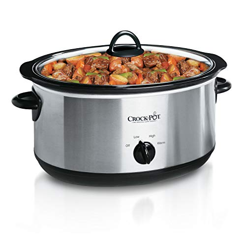 Crock-Pot 7-Quart Oval Manual Slow Cooker | Stainless Steel (SCV700SS)