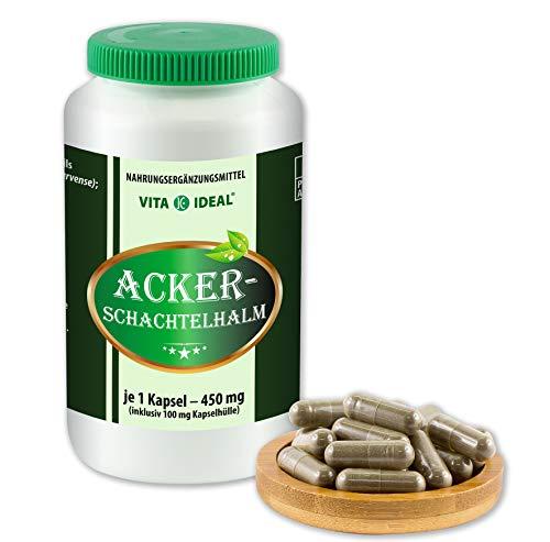 VITAIDEAL ® Ackerschachtelhalm (Equisetum arvense, Schachtelhalm, Zinnkraut) 360 Kapseln je 450mg, aus rein natürlichen Kräutern, ohne Zusatzstoffe von NEZ-Diskounter