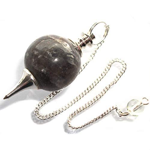 Péndulo esférico para radiestesia y sanación en Cristales de Piedra Semipreciosa Genuina (Cornalina)