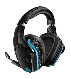 Logitech G935 Wireless DTS:X 7.1 Surround Sound LIGHTSYNC RGB PC Gaming Headset, Black, blue