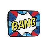 Blue and Red Bang Comics Icon 9.7'Tablets Sleeve Bags Funda Protectora de poliéster para iPad Air 2 / iPad Mini 7.9' Case Pouch