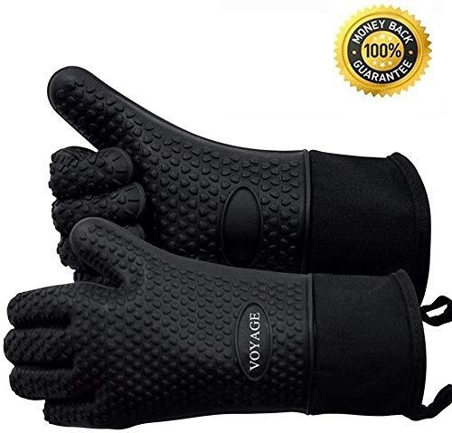 Voyage Premium guanti da forno (set da ) fino a 350 C - Silicone estremamente resistenti al calore...