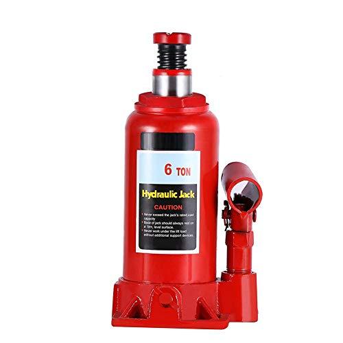 lyrlody- Hydraulikheber, 6T Hydraulischer Wagenheber Flaschenhebebühne Stempelwagenheber zur Verwendung in Automobil-, BAU-, Industrie- und Landwirtschaftsanwendungen