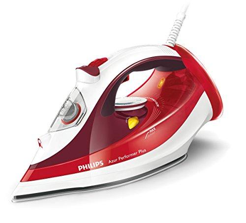 Philips gc4516/40 Azur Performer Plus ferro da stiro a vapore, 2400 W, colore: rosso/bianco.