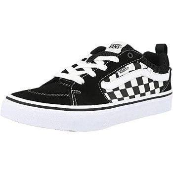 Vans Filmore Suede/Canvas Sneaker, (Checkerboard) Black/White, 4.5 UK