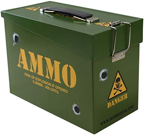 Kombat UK Kids' Army Ammo Tin Toy Storage Lunch Box, Olive Green