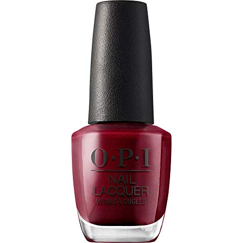 OPI Nail Polish, Nail Lacquer, Bogota Blackberry, Red Nail Polish, 0.5 Fl Oz