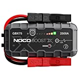 NOCO Boost X GBX75 2500A 12V UltraSafe Portable Lithium Jump Starter, Car Battery Booster Pack, USB-C Powerbank Charger, And Jumper Cables For Up To 8.5-Liter Gas And 6.5-Liter Diesel Engines