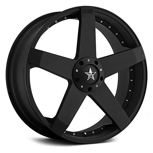 KMC KM775 20x8 Black Wheel/Rim 5x4.25 & 5x4.5 with a 42mm Offset and a 72.60 Hub Bore. Partnumber KM77528001742