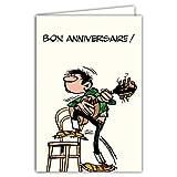 Afie GLCT-0186 Carte Joyeux Anniversaire Gaston Lagaffe Vintage Origine Musique Guitare BD...