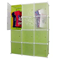 Material Characteristics: The 12 door closet organizer is made of complete PP sheet for sturdiness and durability. Each sheet measures 35 cm in length and 35 in breadth. When stacked together total height is 140 cm and breadth is 105 cm and width is ...