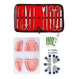 WPY Kit práctico de sutura con 4 Almohadillas de Sutura y11 Herramientas de Calidad, Herramientas de sutura Dental Reutilizables