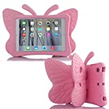 Simicoo iPad Air 2019 iPad pro 10.5 3D Cute Butterfly Case For Kids Light weight EVA Stand Shockproof Rugged Heavy Duty Kids Friendly Tablet Case for iPad Air (3rd Gen) 10.5' 2019 iPad Pro 10.5 (Pink)