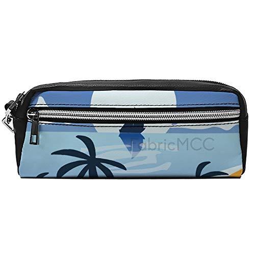 Astuccio grande capacit, motivo: conchiglie oceaniche, astuccio per penne, astuccio per cosmetici, trucchi e accessori da viaggio 8x4x2.2'/20*10*5.5cm Stile 12