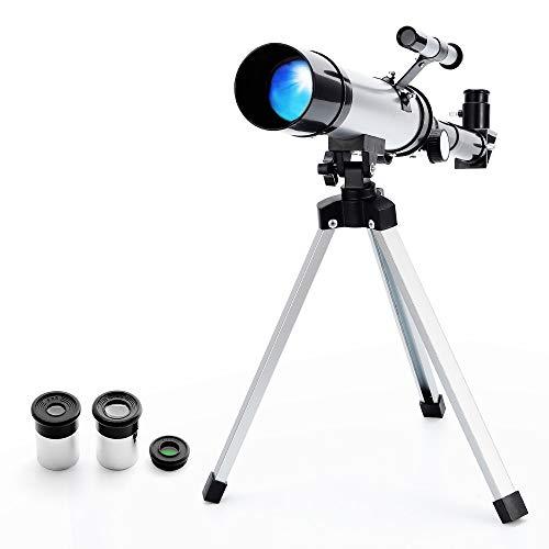 Telescopio Astronomico Rifrattore Zoom HD Monoculare Spazio Telescopio con Treppiede, perfetto per Bambini e Principianti - Ranipobo