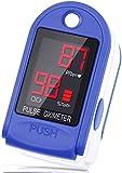 Liorque Saturimetro Ossimetro Pulsossimetro Pulsossimetro Da Dito portatile con Display LED per Saturazione di Ossigeno e Frequenza Del Polso, Pulsossimetro da Dito Portatile con Cordino