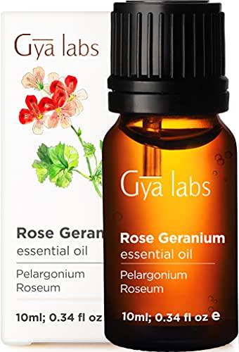 Gya Labs Rose Geranium Essential Oil for Skin...