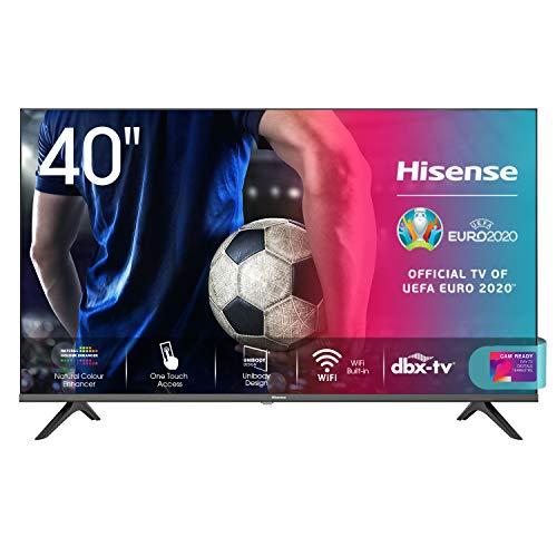 Hisense 40AE5500F Smart TV LED FULL HD 1080p 40', Bezelless, USB Media Player, Tuner DVB-T2/S2 HEVC...