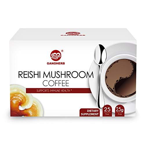 GANOHERB Reishi Mushroom Coffee 2 In 1 Instant Black Coffee
