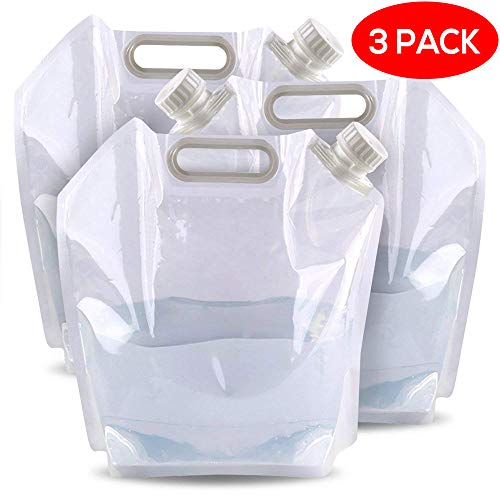 3 Sacs à Eau/Réservoirs d'eau Portables Pliables DE 5 litres - Parfait...