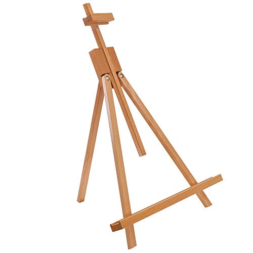 US Art Supply Topanga 18 to 31-1/2 inch High Adjustable Medium Portable Wood Travel A-Frame Easel