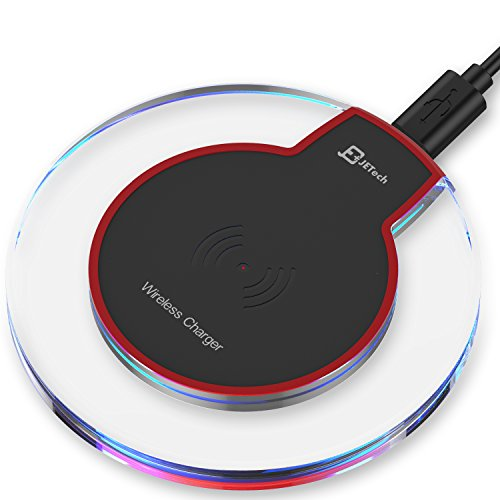 JETech 2170-Wireless-Charger-BK Universal Wireless Charger Qi Charging Pad