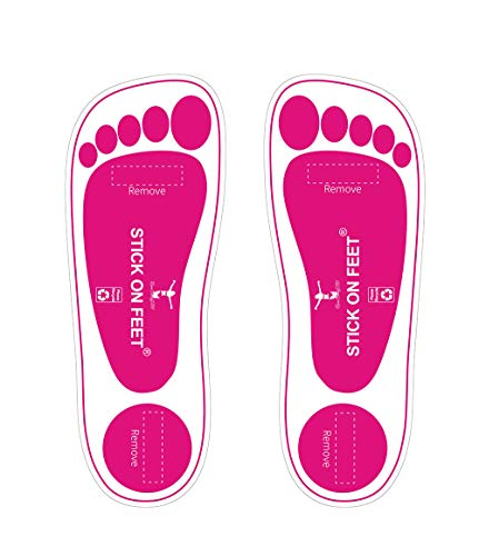 60Pairs(120feets) Premium Pink Spray Tan Stick on Feet Tanning Pads Protectors