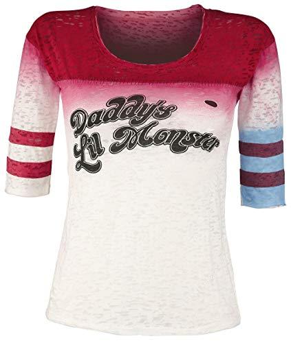 Escuadrón Suicida Harley Quinn - Daddy'S Little Monster Mujer Camiseta Manga Larga Multicolor M