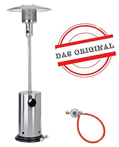 Gas Heizpilz aus Edelstahl von Activa   Heizstrahler für Terrassen - mit Kippschutz und Abschaltautomatik - bis zu 8,3kW Heizleistung