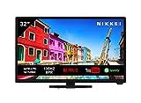 Televisión NIKKEI NH3221SMART de 81 cm/ 32 pulgadas (Smart TV con wifi integrado, HD Ready, 1366 x 768, 3x HDMI, 1x USB, guía electrónica de programas)