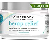 Hemp Pain Relief Cream- 750,000 Made in USA Lab Tested Hemp Oil Formula for Arthritis, Back, Knee, Joint, Nerve & Muscle Pain, Inflammation with Natural Peppermint Oil, Arnica Extract & Aloe 2oz