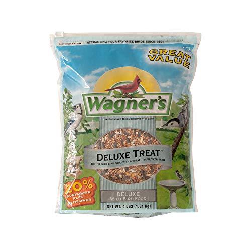 Wagner's 62067 Deluxe Treat Blend Wild Bird Food, 4-Pound Bag