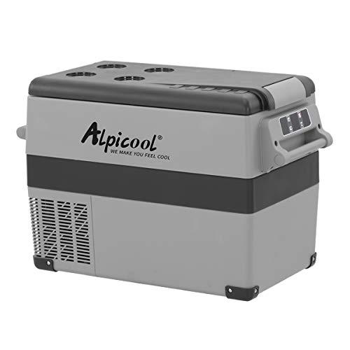 Alpicool CF45 45 Litri Frigoriferi Portatile Elettrico Frigorifero per Auto Congelatore 12V 24V DC/AC Mini Frigo per Viaggio, Picnic, Campeggio Uso Esterno, da -20 a 20