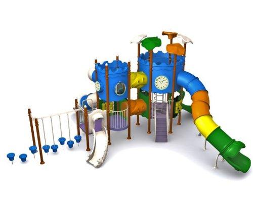 Loggyland Spielanlage SCHLÖSSCHEN mit Tunnelrutsche - für öffentliche Spielplätze